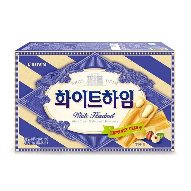 【CROWN 皇冠】榛果奶油威化酥142g(威化酥)