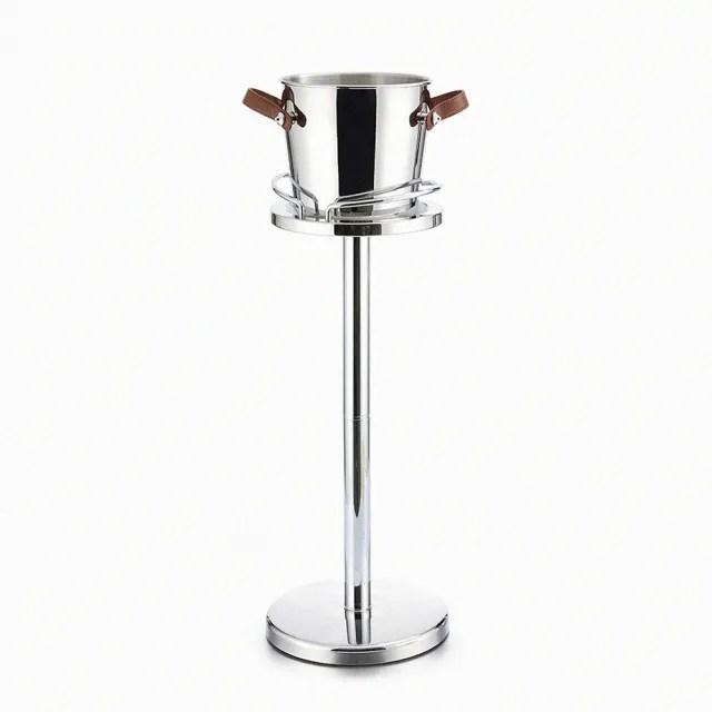 【Finara 費納拉】鏡面不鏽鋼直立式豪華香檳桶套組(精品飯店系列/香檳桶套組附腳架)