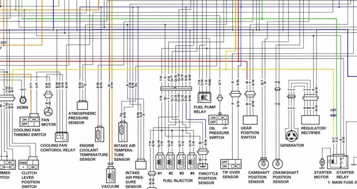 2002 gsxr wiring diagram electrical wiring diagram rh electricalbe co 2004 Suzuki Gsxr 750 1990 Suzuki Gsxr 750