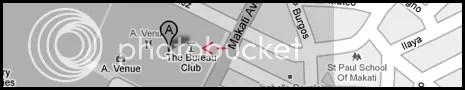 Bureau Club Makati Map