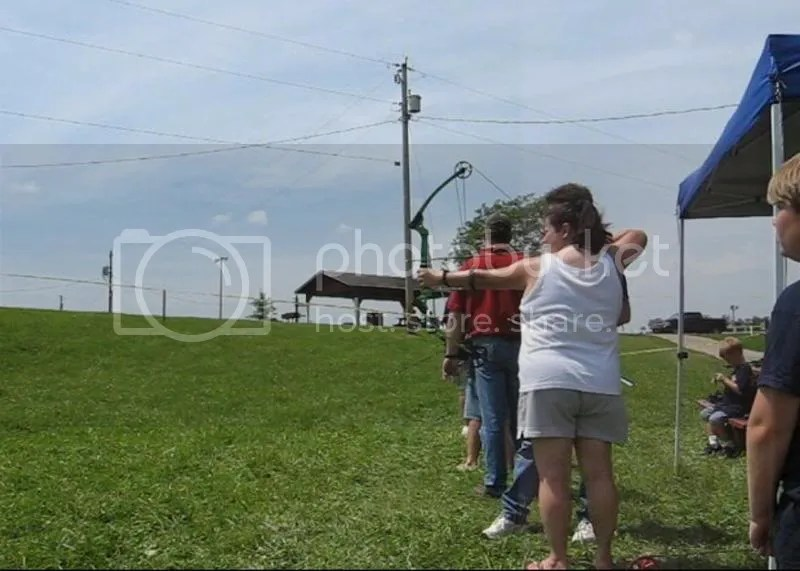 me doing archery! Havent done that since I was about 10