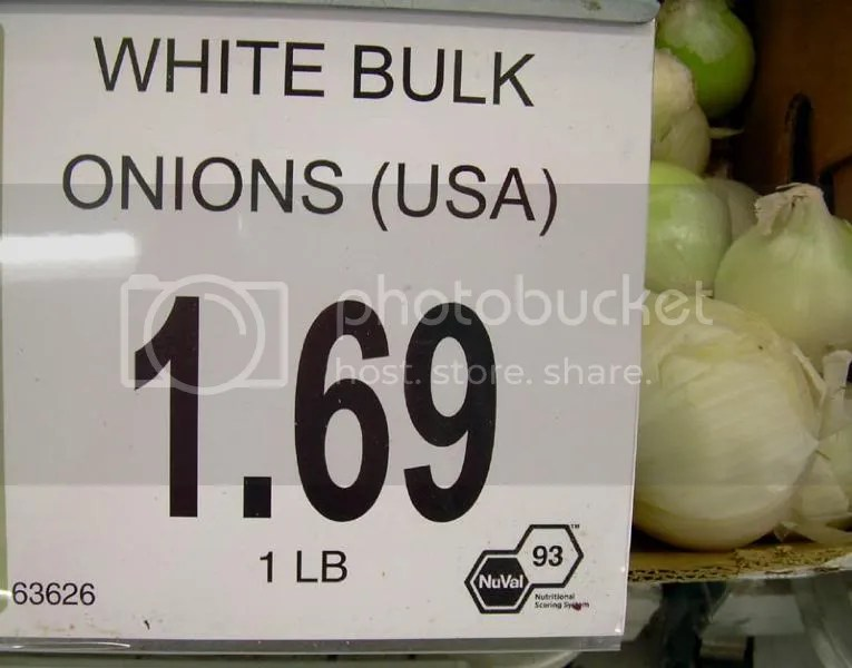 Onions are a 93 - so if I eat these all day, Ill be at optimum health? I mean, why eat lower scoring foods when youve got the win right there?