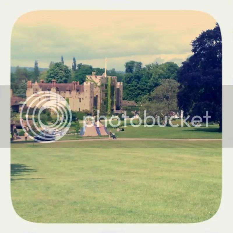 Retro image of Hever Castle