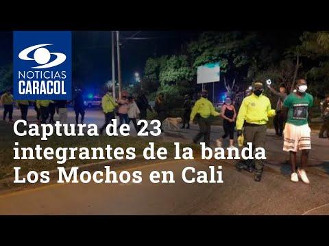 Allanamientos en el oriente de Cali permitieron la captura de 23 integrantes de la banda Los Mochos