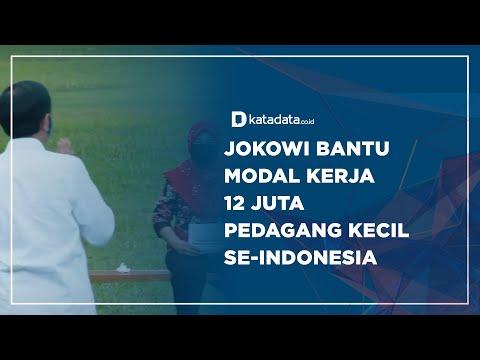 Jokowi Bantu Modal Kerja 12 Juta Pedagang Kecil Se-Indonesia   Katadata Indonesia
