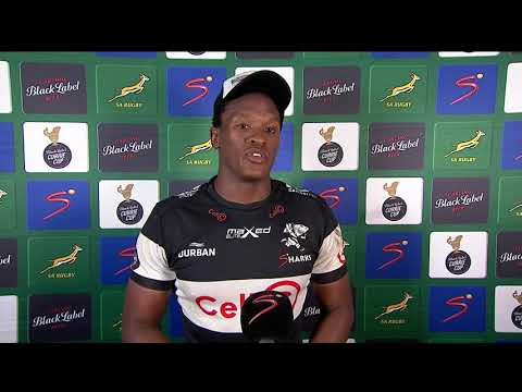 Currie Cup Premier Division   Sharks v Bulls   Interview with Phepsi Buthelezi