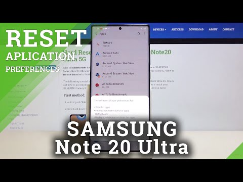 How to Reset Apps in SAMSUNG Galaxy Note 20 Ultra – Restore App Settings