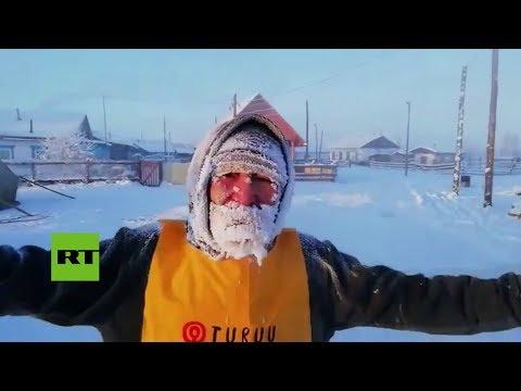 La primera maratón internacional en la ciudad más fría del mundo, Oymyakon