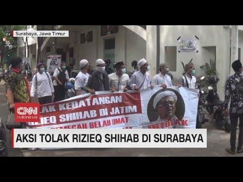 Aksi Tolak Rizieq Shihab di Surabaya