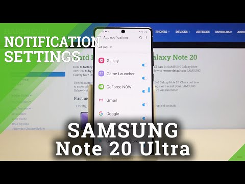 How to Personalize Notifications in SAMSUNG Galaxy Note 20 – Find Notification Settings