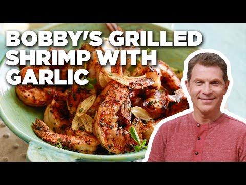 Bobby Flay's Grilled Shrimp with Garlic (Gambas al Ajillo)   Boy Meets Grill   Food Network