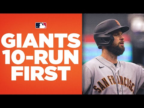 Giants EXPLODE for TEN first inning runs against Rockies!