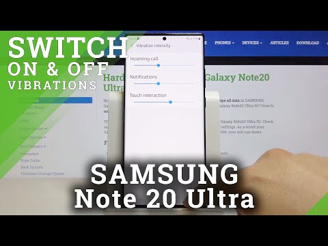 How to Change Vibration Settings in SAMSUNG Galaxy Note 20 Ultra – Personalize Vibration