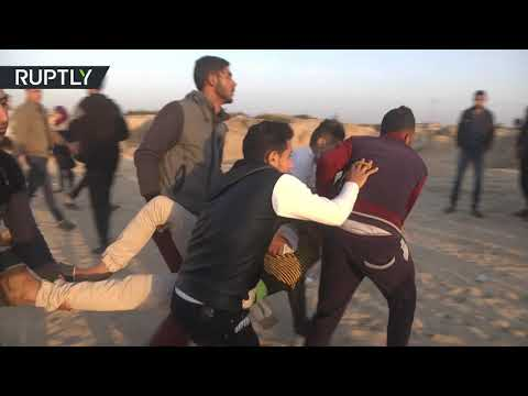 RAW: At least 9 protesters injured as Gaza flotilla tries to break the Israeli naval blockade