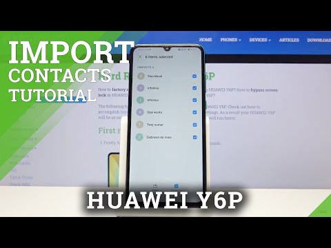 How to Import Contacts in Huawei Y6P - Transfer Numbers