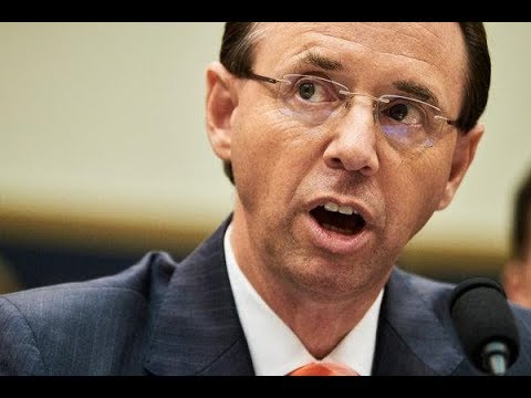 ROD ROSENSTEIN SLOWLY RESIGNING OR TESTIFIES UNDER OATH ABOUT TAPING TRUMP