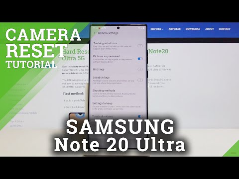 How to Reset Camera in SAMSUNG Galaxy Note 20 Ultra - Restore Camera Config