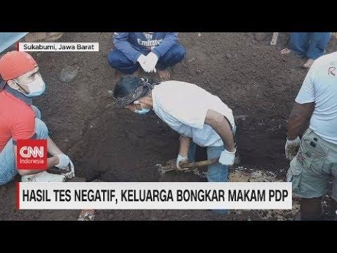 Hasil Swab Negatif Covid-19, Makam Korban PDP Dibongkar Keluarga