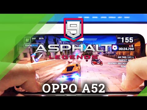 Asphalt 9 on OPPO A52 – Gaming Quality Checkup