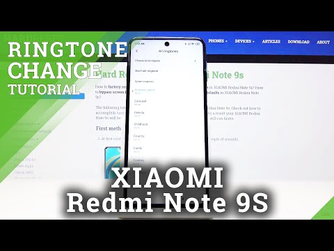 How to Change Ringtone in XIAOMI Redmi Note 9s – Sound Settings