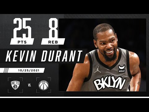 Kevin Durant puts up 25 PTS, 8 REB with EASE vs. W…