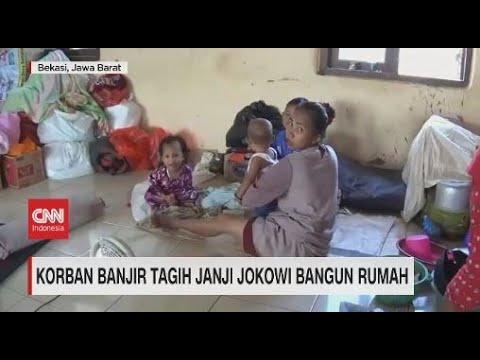 Korban Banjir Tagih Janji Jokowi Bangun Rumah