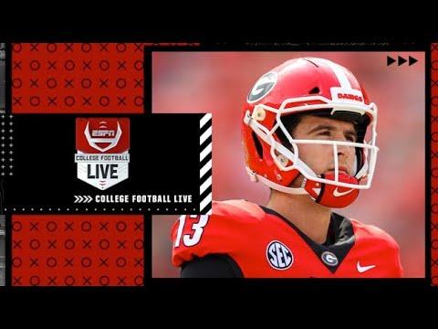 Should Stetson Bennett remain Georgia's QB if JT Daniels returns?   College Football Live