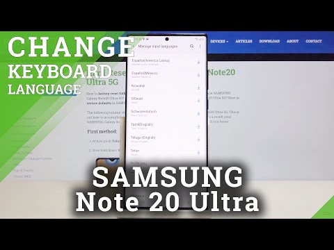 How to Change Keyboard Language in SAMSUNG Galaxy Note 20 Ultra – Language List