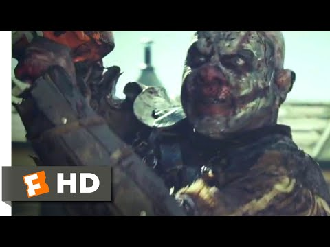 Zombie Hunter (2013) - Clown With a Chainsaw Scene (8/10) | Movieclips
