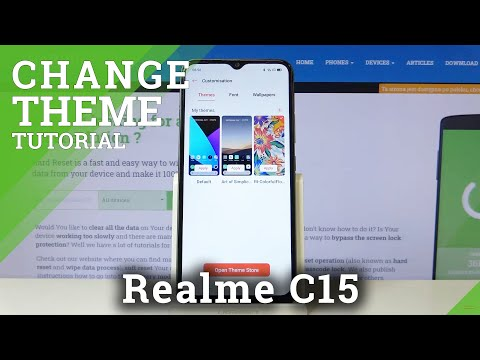How to Change Device's Theme in REALME C15 – Change Menu Look