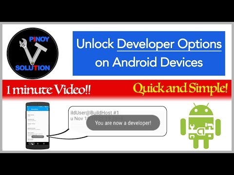 How to turn on Developer Options on Android Devices