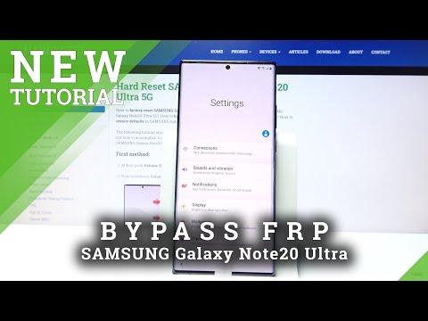 How to Bypass Google Verification on SAMSUNG Galaxy Note20 Ultra - Unlock FRP New Samsung Method
