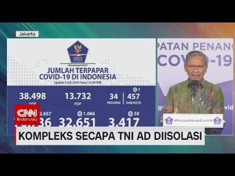 Klaster Baru Covid-19, Kompleks Secapa TNI AD  Diisolasi