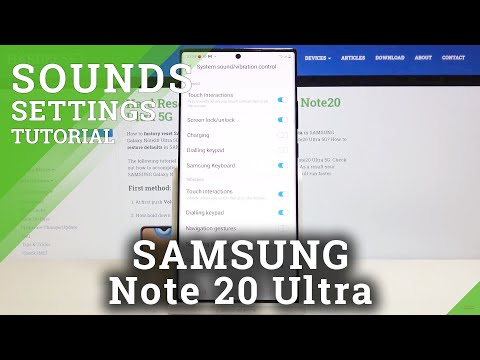 How to Allow Charging Sounds in SAMSUNG Galaxy Note 20 Ultra – Sound Settings
