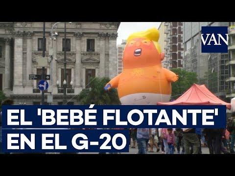 El 'BEBÉ FLOTANTE' de TRUMP presente en la cumbre del G-20