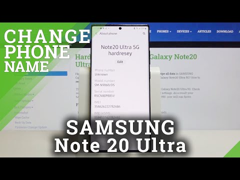 How to Change Device's Name in SAMSUNG Galaxy Note 20 Ultra – Rename Device