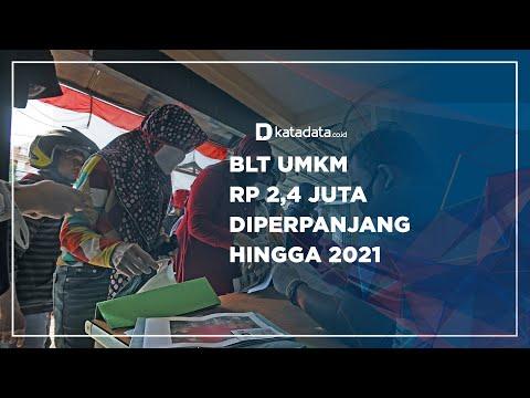 BLT UMKM Rp 2,4 Juta Diperpanjang Hingga 2021 | Katadata Indonesia