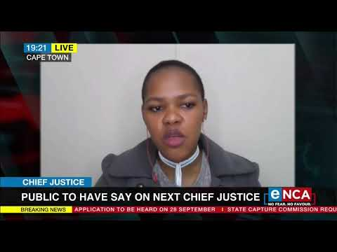 Calls on the public to pick new chief justice