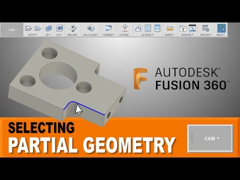 Selecting Partial Contours in Fusion 360 CAM - FF116