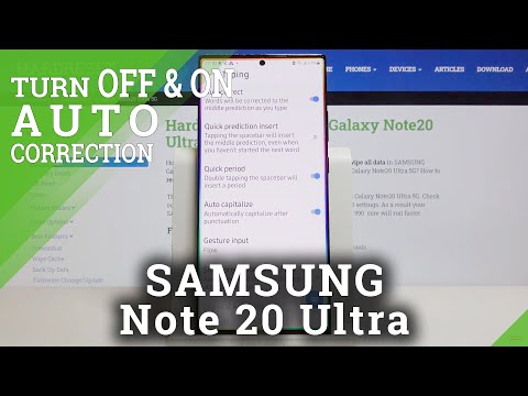 How to Allow Auto-Correction in SAMSUNG Galaxy Note 20 Ultra – Correct Text Automatically