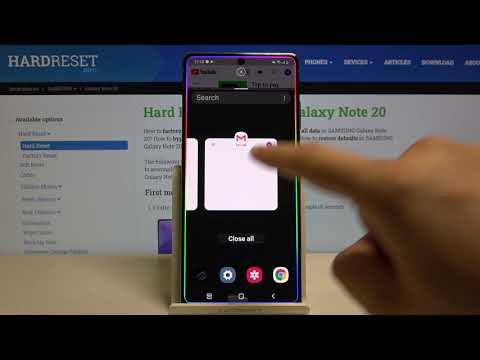 How to Use Split Screen in SAMSUNG Galaxy Note 20 - Multitasking Usage