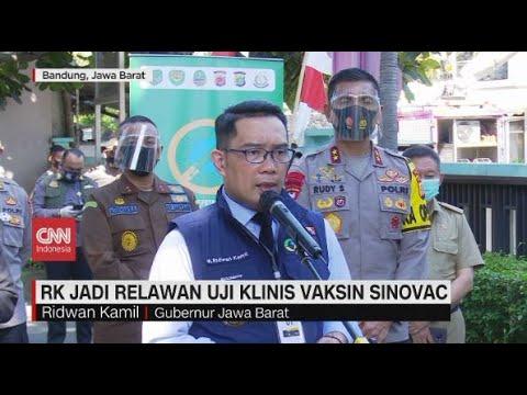 Ridwan Kamil Jadi Relawan Uji Klinis Vaksin Sinovac
