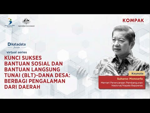 Katadata Forum Virtual Series: Kunci Sukses Bantuan Sosial dan Bantuan Langsung Tunai Dana Desa