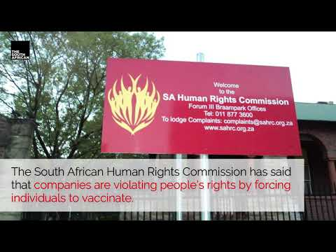 SAHRC calls forcing vaccination a violation of people's rights