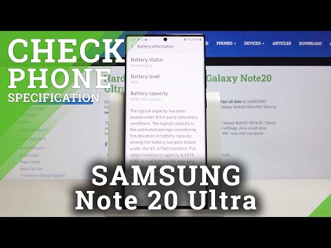 How to Change SAMSUNG Galaxy Note 20 Ultra Specification