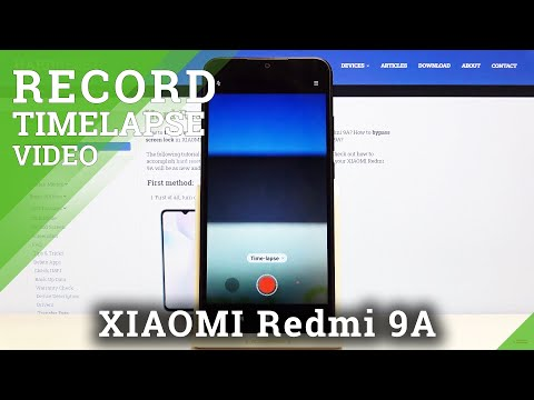 How to Record Timelapse Video in XIAOMI Redmi 9A – Speed Up Videos