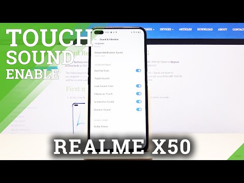 How to Activate Touch Sounds in REALME X50 5G – Sounds in REALME