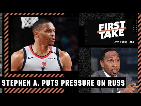 Stephen A. puts the pressure on Russell Westbrook to win with Lakers | First Take