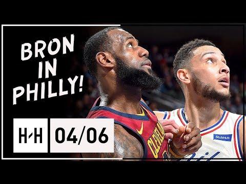 LeBron James Triple-Double Full Highlights vs 76ers 2018 ...