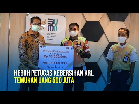 Heboh! Petugas Kebersihan KRL Temukan Uang Rp500 Juta